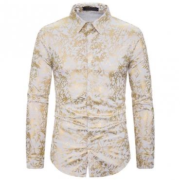 Lovely Casual Turndown Collar Printed White Shirt