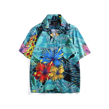 Lovely Casual Printed  Blue Shirt