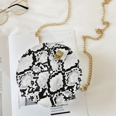 Lovely Chic Printed White Crossbody Bag