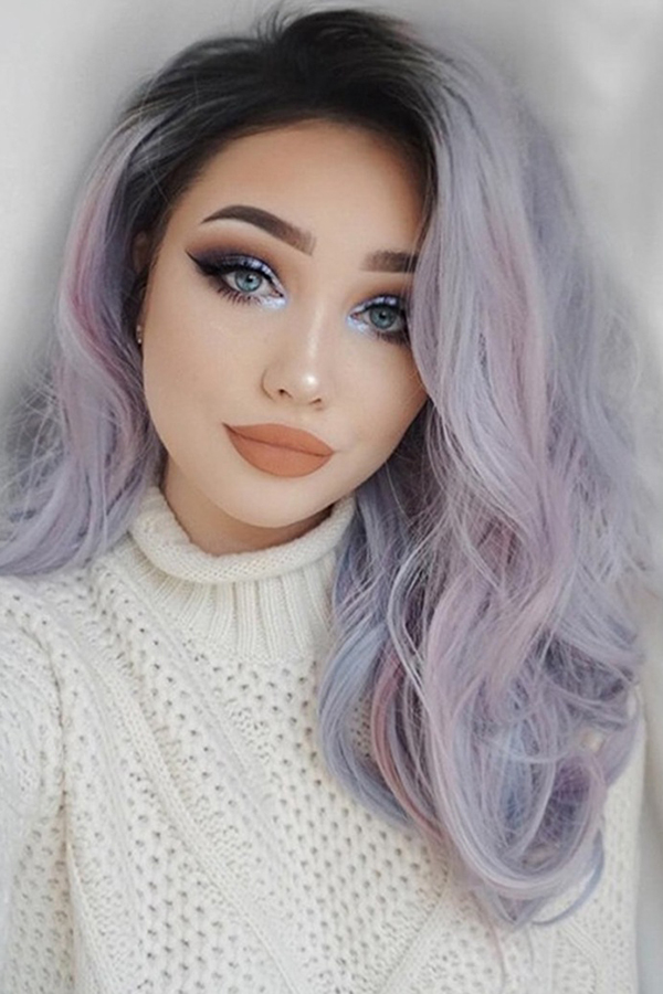 Lovely Trendy Gradual Change Blue Wigs