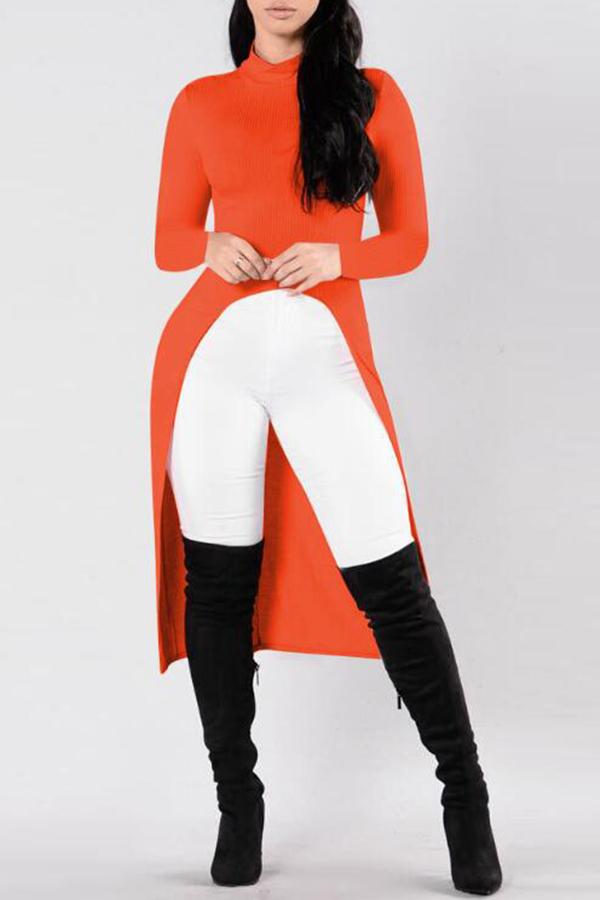 Lovely Leisure Asymmetrical Orange T-shirt