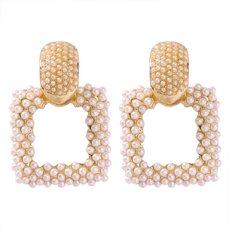 Lovely Trendy Rhinestone Decorative Gold Earring
