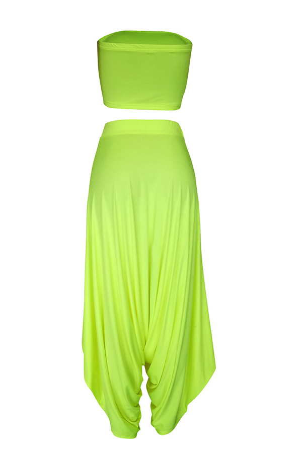 Lovely Casual Loose Green Two-piece Pants Set