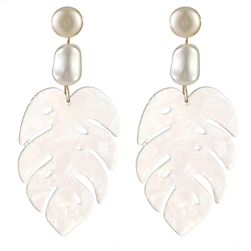 Lovely Retro Hollow-out White Alloy Earring