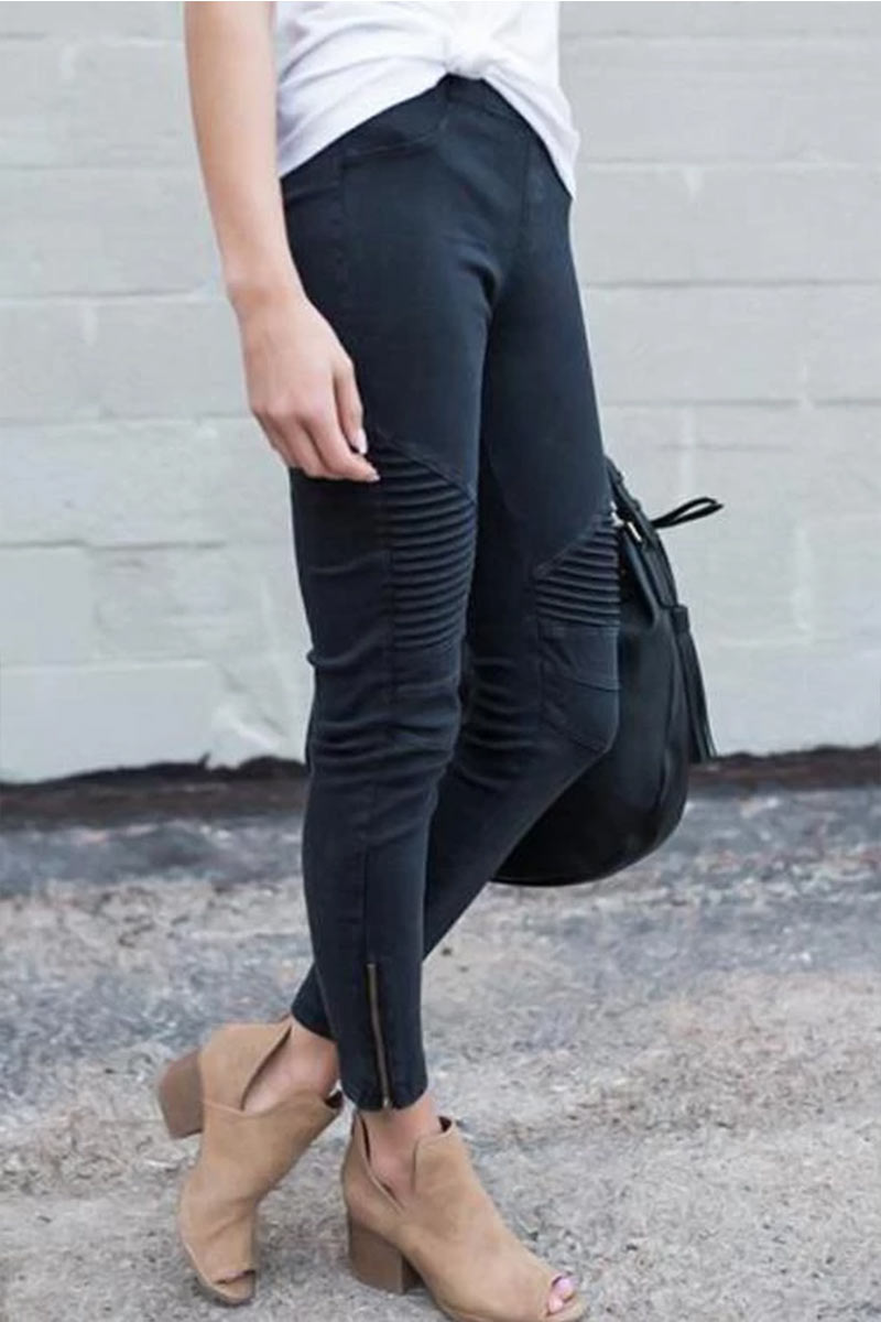 Lovely Ready For Anything Zipper Casual Pant