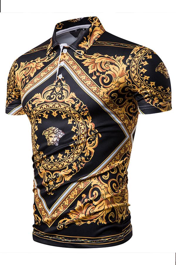 Lovely Casual Turndown Collar Multicolor Polo Shirt