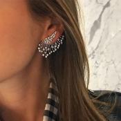 Lovely Trendy Silver Alloy Earring