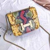 Lovely Trendy Printed Yellow Crossbody Bag