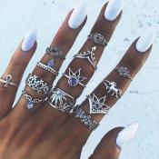 Lovely Fashion 13-piece Sliver Alloy Ring