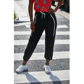 Lovely Leisure Patchwork Black Pants