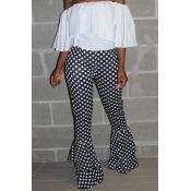 Lovely Sweet Dot Printed Black Pants