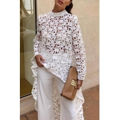 Lovely Work Hollow-out White Blouse