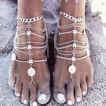 Lovely Trendy Cascading Sliver Anklet