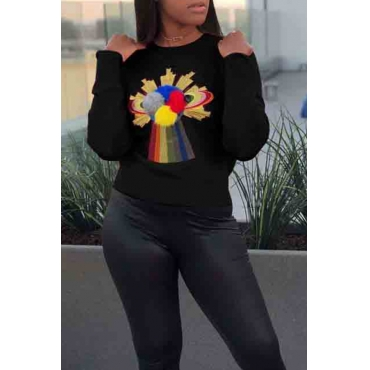 Lovely Leisure Patchwork Black Sweaters