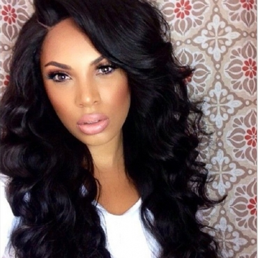 Lovely Casual Long Curly Black Wigs