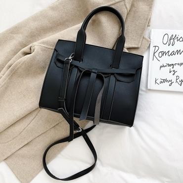 Lovely Retro Patchwork Black Crossbody Bag