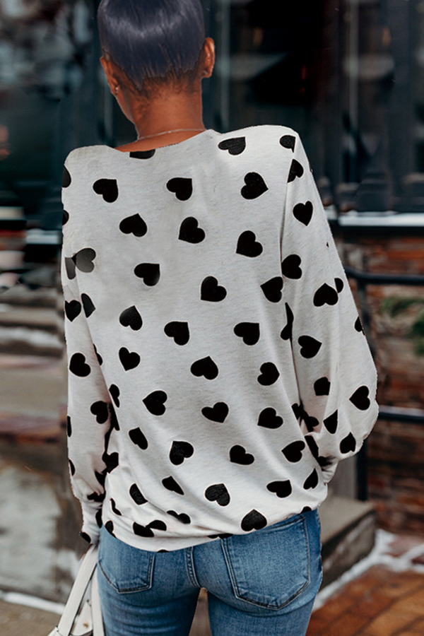Lovely Casual Printed Black T-shirt