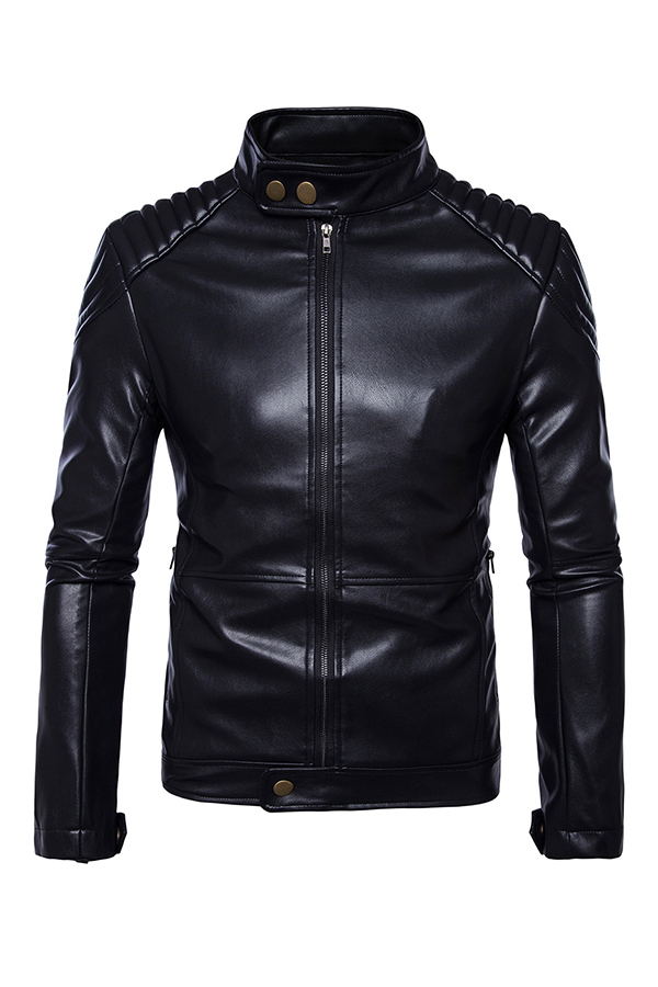 Lovely Casual Buttons Decorative Black Jacket