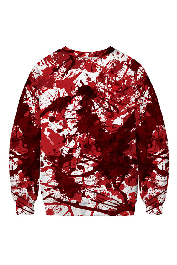 Lovely Leisure Lip Printed Multicolor Hoodie
