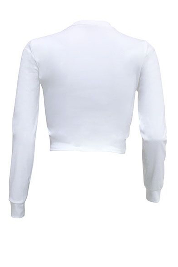 Lovely Casual Color-lump White T-shirt