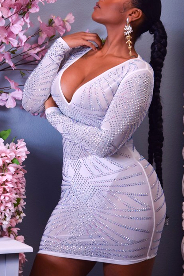 Lovely Sexy See-through White Mini Dress(Without Lining)
