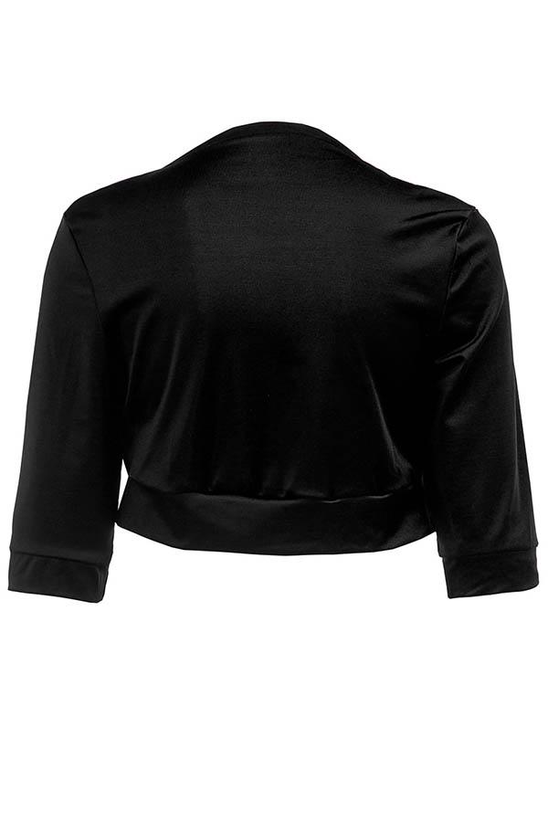 Lovely Casual Black Short Coat