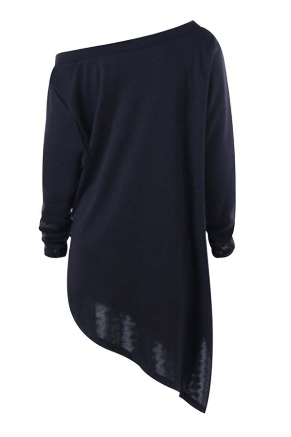 Lovely Casual Printed Black Plus Size T-shirt