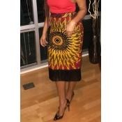 Lovely Trendy Tassel Design Red Mid Calf Skirt