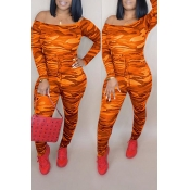 Lovely Casual Camouflage Printed Army Croci One-piece Jumpsuit
