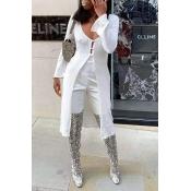 Lovely Trendy Long White Cardigan