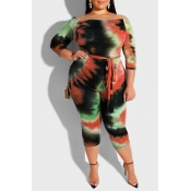 Lovely Leisure Printed Skinny Jacinth Plus Size On