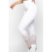 Lovely Sportswear Printed White Leggings