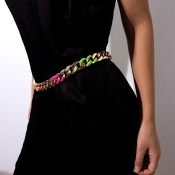 Lovely Trendy Hollow-out Multicolor Alloy Body Cha