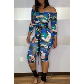 Lovely Casual Printed Multicolor One-piece Jumpsui