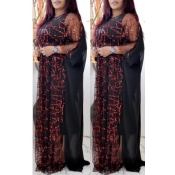 Lovely Casual Sequined Wine Red Plus Size Two-piec