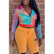 Lovely Stylish Patchwork Multicolor Jacket