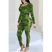 Lovely Sexy Bandage Design Green One-piece Jumpsui