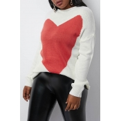 Lovely Trendy Heart White Sweater