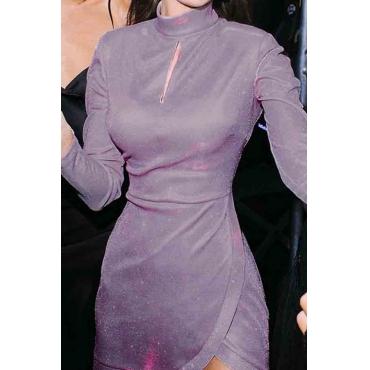 Lovely Party Ruffle Design Purple Mini Prom Dress