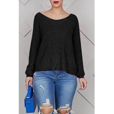 Lovely Work Cross-over Design Black T-shirt