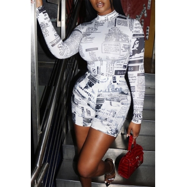 Lovely Trendy Letter Printed White One-piece Romper