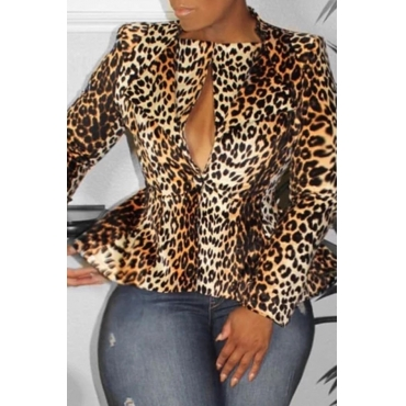 Lovely Trendy Leopard Printed Blazer