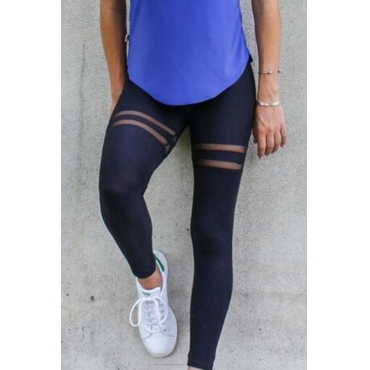 Lovely Sportswear Patchwork Black Leggings