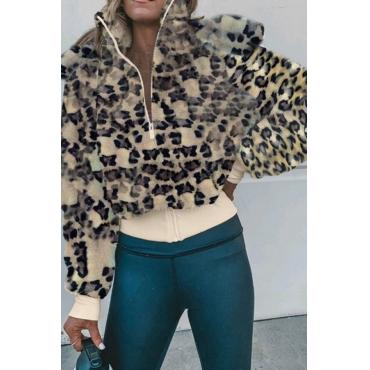 Lovely Chic Leopard Teddy Coat
