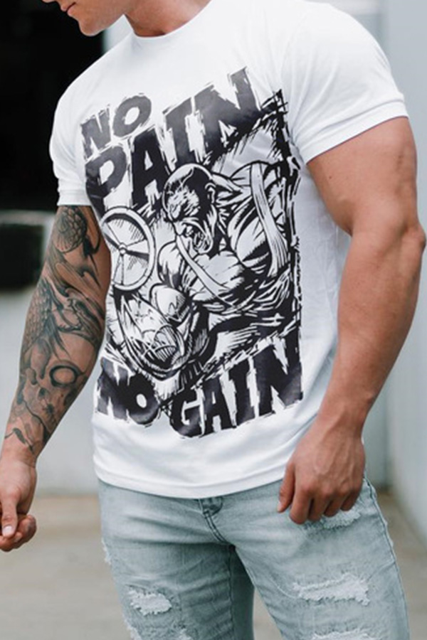 Lovely Casual Printed White T-shirt