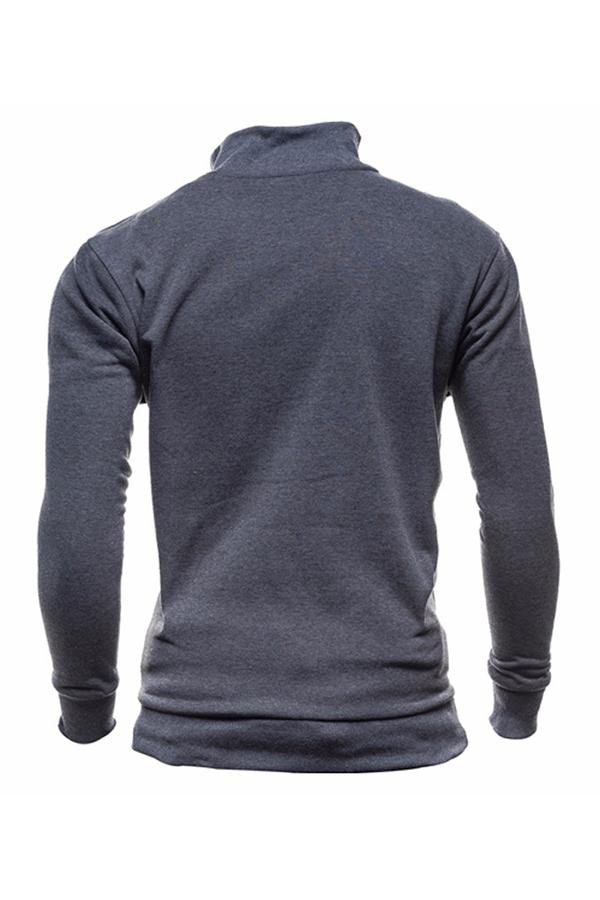 Lovely Casual Zipper Design Dark Grey Hoodie