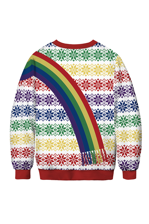 Lovely Christmas Day Printed Multicolor Sweatshirt Hoodie