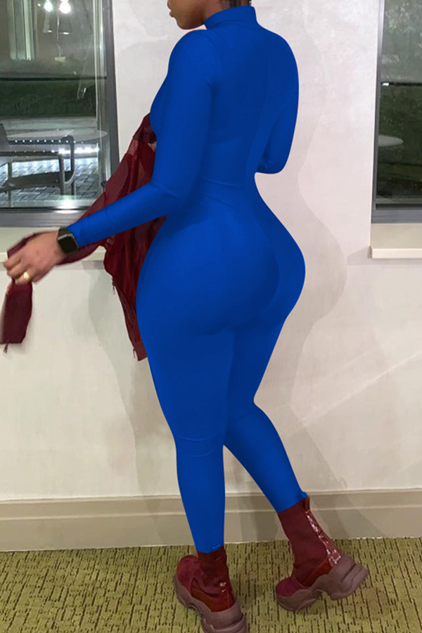 Lovely Trendy Skinny Blue One-piece Jumpsuit