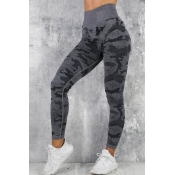 Lovely Sportswear Camouflage Printed Black Legging