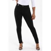 Lovely Leisure Basic Skinny Black Pants